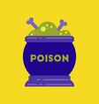 flat icon on stylish background potion cauldron vector image vector image