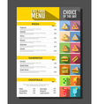 Flat style of fast food menu design vector image vector image