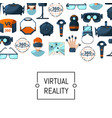 flat style virtual reality elements vector image vector image