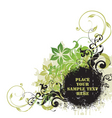 floral grunge graphic vector image vector image