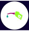 Gasoline pump nozzle computer symbol vector image vector image