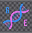 genetic engineering concept human genetic code vector image