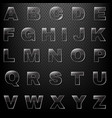 glass font and black background vector image