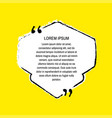grunge quote white on yellow vector image vector image