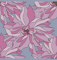 hand drawing seamless pattern with pink flowers vector image vector image