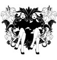 hand drawn sitting ladies vector image vector image