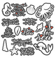 hand lettering phrases stickers set in white vector image vector image