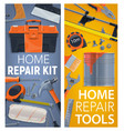 home repair and construction tools posters vector image vector image