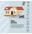 house facade car and real vector image vector image