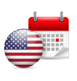 Icon of National Day in USA vector image