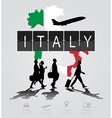 Infographic silhouette people in the airport vector image vector image