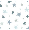 kids pattern with doodle textured stars vector image vector image