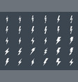 lightning gluph icons set vector image vector image