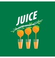 logo of fresh juice vector image vector image