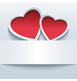 Love background with two 3d hearts vector image vector image