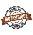 made in mozambique round seal vector image vector image