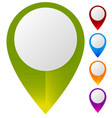 map marker map pin set abstract pushpins vector image vector image