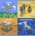 military robots 2x2 design concept vector image vector image
