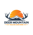 mountain deer animal logo design your company vector image