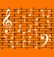 music wall background vector image vector image