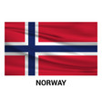 norway flag design vector image
