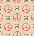 peace sign seamless pattern vector image vector image