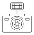 photo camera icon outline style vector image