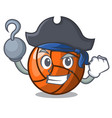pirate volleyball character cartoon style vector image vector image
