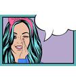 Pop Art of girl with the speech bubblePop Art girl