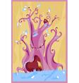 purple fairy tree vector image vector image