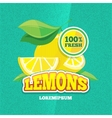retro poster with juicy fresh lemon vector image vector image