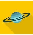 Saturn icon flat style vector image vector image