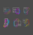 set modern abstract liquid banners design vector image vector image