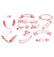 Set Watercolor Ribbon and Banner Invitation vector image vector image