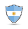 shield with flag of argentina isolated vector image vector image