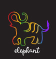 simple modern elephant logo elegant and stylish vector image vector image