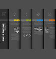 simple timeline template vector image vector image