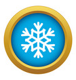 snowflake icon blue isolated vector image vector image