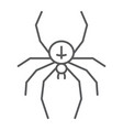 spider thin line icon animal and arachnid vector image vector image
