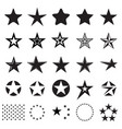 star icons isolated on a white background vector image vector image