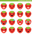strawberry emoticons vector image
