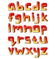 stylized small letters vector image vector image