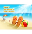 Summer Colored Composition vector image vector image