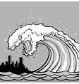 tsunami monster vector image vector image