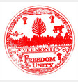 vermont seal rubber stamp vector image