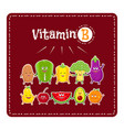 vitamin b vegetables and fruits healthy food vector image vector image