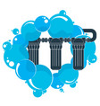 water filters and blue drops vector image vector image