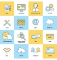 Web Flat Line Icons vector image vector image