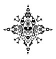 hand drawn pattern with tribal mask ethnic vector image