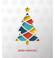 Paper colorful Christmas tree vector image